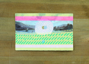 Vintage Landscape Illustration Postcard Altered By Hand - Naomi Vona Art