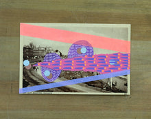 Load image into Gallery viewer, Altered Vintage Postcard Art Collage - Naomi Vona Art