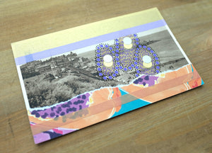 One Of A Kind Collage On Landscape Old Postcard - Naomi Vona Art