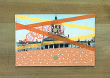 Load image into Gallery viewer, Original Mixed Media Collage On Vintage Monument Postcard - Naomi Vona Art