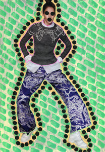Neon Green Fashion Print Made To Order - Naomi Vona Art