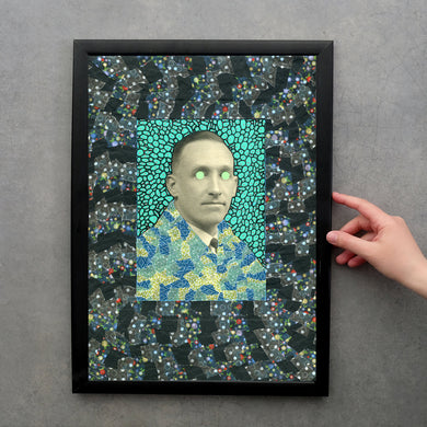 Customisable Print Of Altered Vintage Man Portrait Photo - Naomi Vona Art