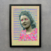 Load image into Gallery viewer, Neon Fine Art Print Of Vintage Woman Portrait - Naomi Vona Art