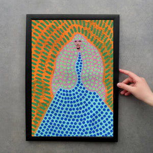 Giclee Fine Art Print, Customisable Made To Order Fashion Art - Naomi Vona Art