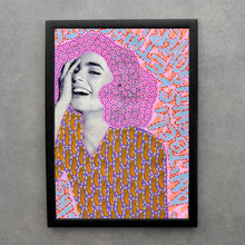 Load image into Gallery viewer, Smiling Girl Art Print, Fashion Woman Altered Photography - Naomi Vona Art