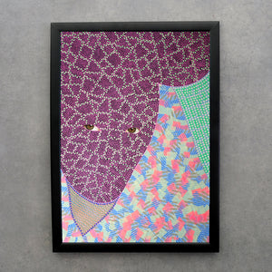 Weird Altered Fashion Portrait Print - Naomi Vona Art