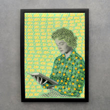 Load image into Gallery viewer, Woman Reading A Book Art Print - Naomi Vona Art