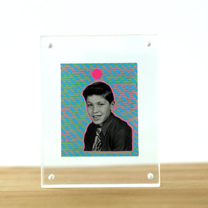Manipulated Vintage Portrait Of Smiling Young Boy - Naomi Vona Art