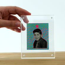 Load image into Gallery viewer, Manipulated Vintage Portrait Of Smiling Young Boy - Naomi Vona Art