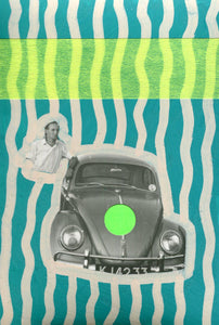 Man With Car Photography Art Collage - Naomi Vona Art