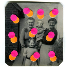 Load image into Gallery viewer, Paper Confetti Art Collage Created On Found Photo - Naomi Vona Art