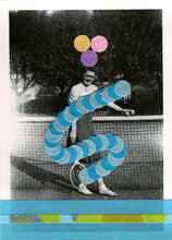 Load image into Gallery viewer, Tennis Art Collage On Vintage Found Photography - Naomi Vona Art