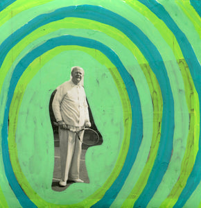 Old Man Portrait Artwork, Surreal Photography Collage - Naomi Vona Art