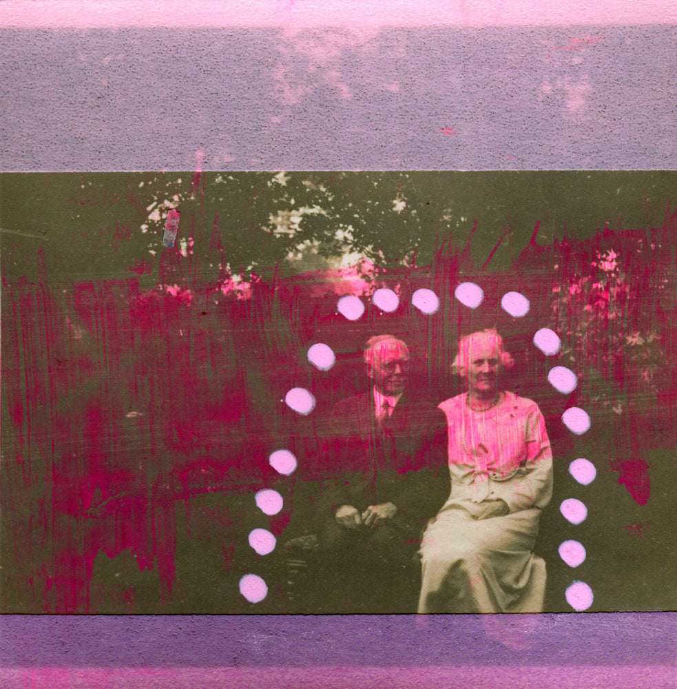 Old People Portrait Retro Photography Collage - Naomi Vona Art