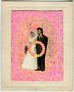 Original Vintage Wedding Art Collage Gift Idea - Naomi Vona Art