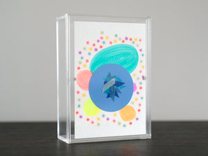 Neon Pastel Contemporary Postcard Collage - Naomi Vona Art