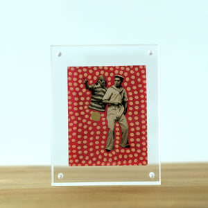 Funny Contemporary Pocket Art Collage Of Two Vintage Pirates - Naomi Vona Art