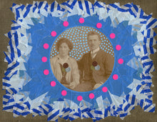 Load image into Gallery viewer, Original Collage Art On Vintage Couple Photography - Naomi Vona Art