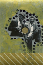 Load image into Gallery viewer, Mixed Media Art Collage Created On Tiny Found Portrait - Naomi Vona Art