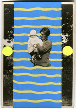 Load image into Gallery viewer, Mother And Baby Collage Dada Art On Tiny Retro Portrait Photo - Naomi Vona Art