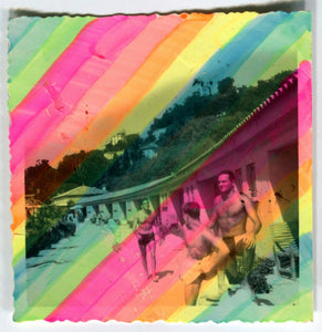 Funny Rainbow Art Collage On Vintage Photo - Naomi Vona Art