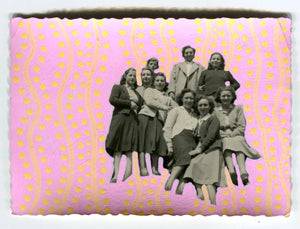 Older Women Photos, Happy Art Collage On Found Photo - Naomi Vona Art