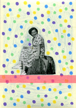 Load image into Gallery viewer, Confetti Art Collage On Vintage Photo Of Happy Woman - Naomi Vona Art