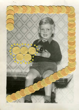 Load image into Gallery viewer, Little Boy Vintage Portrait, Collage On Found Retro Photo - Naomi Vona Art