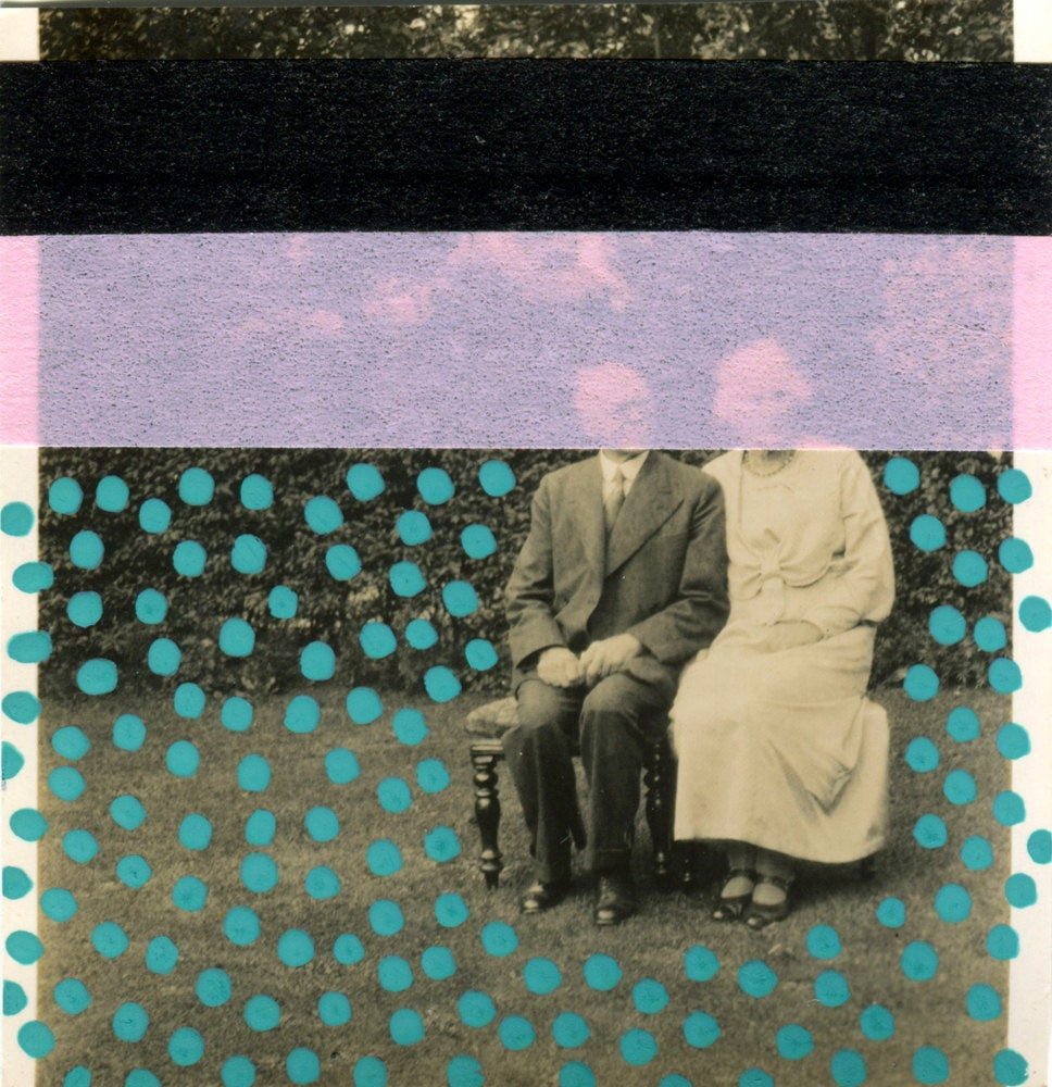 Old Photo About a Couple Portrait Collage - Naomi Vona Art