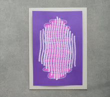 Load image into Gallery viewer, Original Handmade Illustration On Purple Paper - Naomi Vona Art