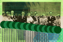 Load image into Gallery viewer, Mixed Media Art Collage on Vintage Wedding Photography - Naomi Vona Art