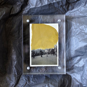 Gold Art Collage On Vintage Black And White Photography - Naomi Vona Art
