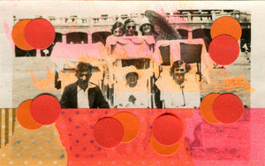 Vintage Group Photo Collage Altered With Stickers And Tape - Naomi Vona Art