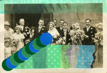 Load image into Gallery viewer, Fine Art Collage Created On Vintage Wedding Photography - Naomi Vona Art