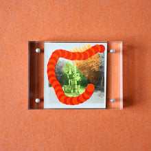 Load image into Gallery viewer, Orange Art Collage On Found Photography - Naomi Vona Art