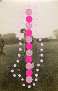 Golf Art, Confetti Paper And Pens On Retro Portrait Photography - Naomi Vona Art