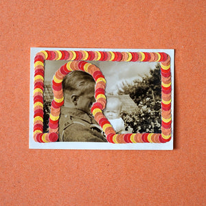 Father And Son Vintage Photo Art Collage - Naomi Vona Art