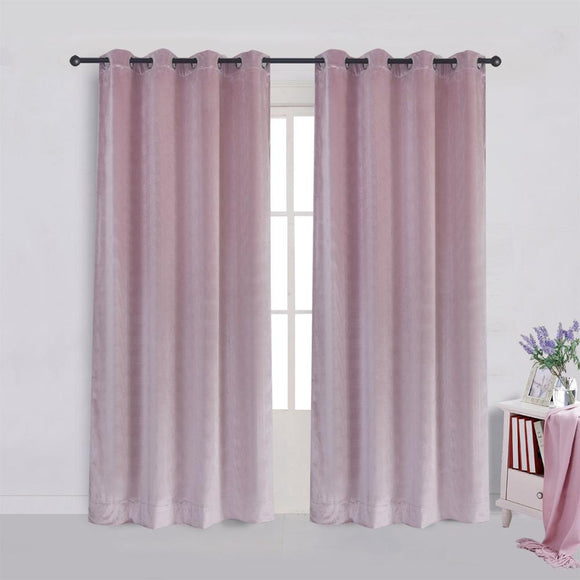 Modern Solid Velvet Curtains
