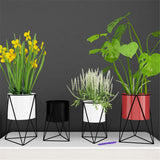 Geometric Metal Flower Pot Stand