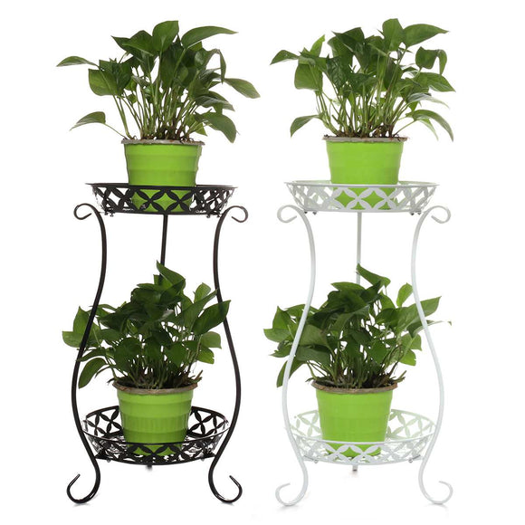 Wrought Iron Double-layer Plant Stand