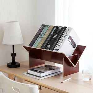 Solid wood assembled bookshelf