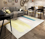 Geometric abstract living room carpet