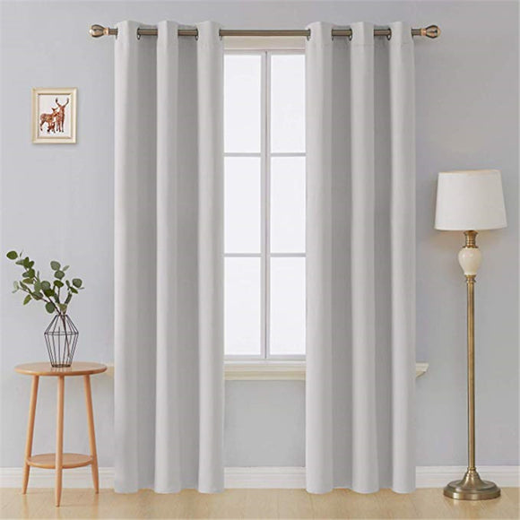 White Thermal Insulated Blackout Curtains