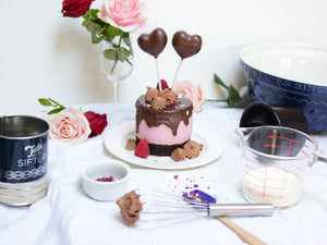 Decadent Raspberry Mousse Chocolate cake