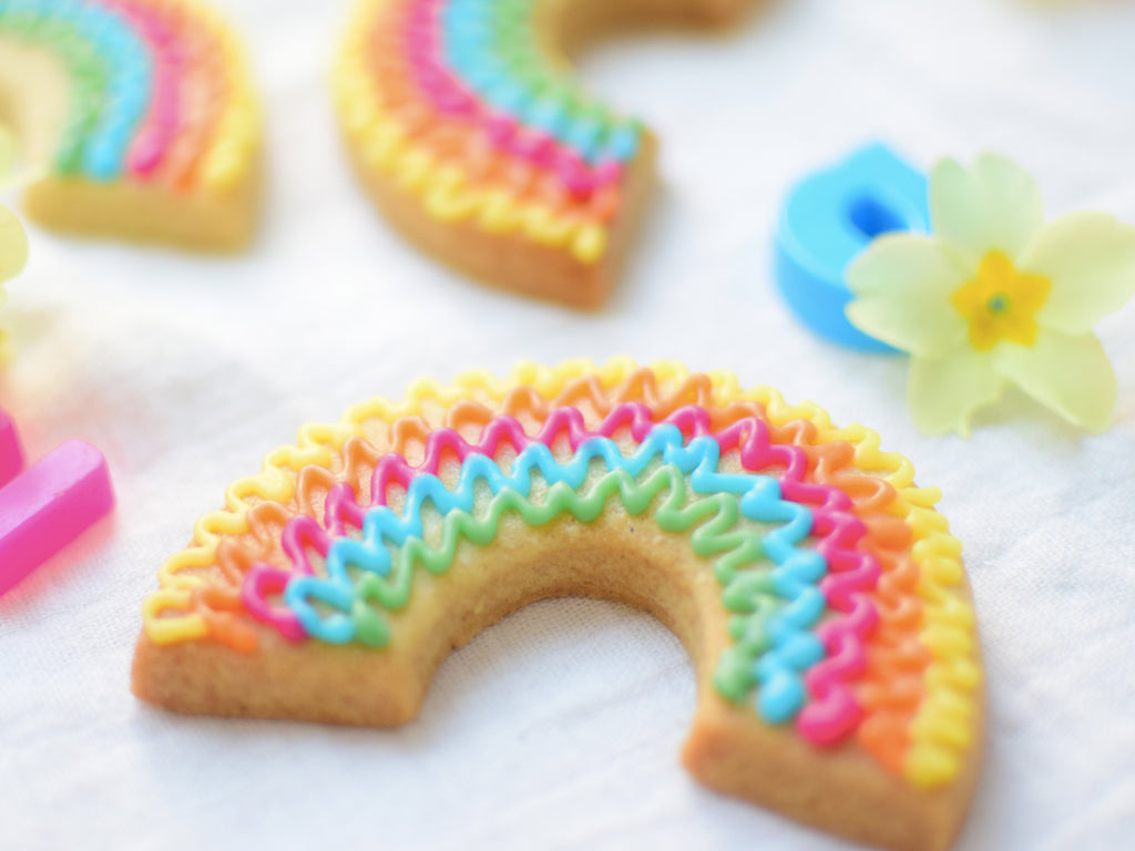 Rainbow Squiggle Biscuits