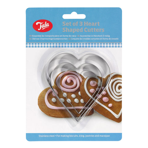 Tala Set of 3 HeartShaped Cutters