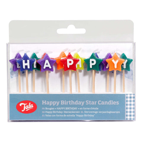 Tala Happy Birthday Star Candles