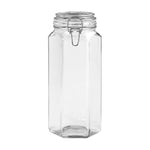 Hexagonal Glass Storage Jars