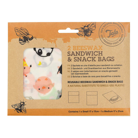 Tala Zero Waste Sandwich & Snack Wax Bag 2 pcs