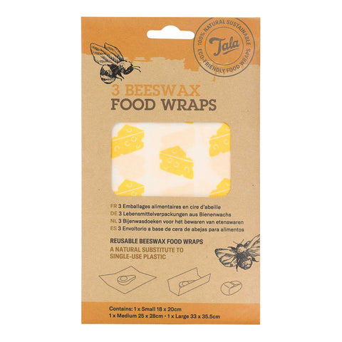 Cheese Food Wax Wraps  set of three